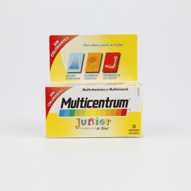 MULTICENTRUM JUNIOR 30 COMP FRAMBUESA/LIMON